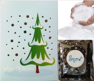 Christmas Tree Card FREE Magic REUSEABLE Snow